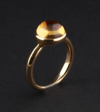 Georg Jensen oro amarillo de 18 quilates Moonrise Anillo con CITRINO # 1567c,