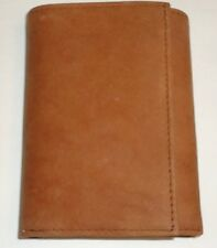 Buxton Arizona Genuine Suede Leather Trifold Wallet,Tan