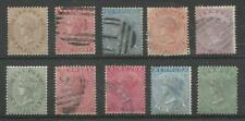Used British Colonies & Territories 10 Number Stamps