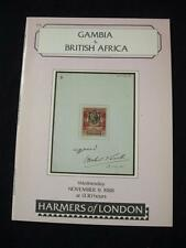 Harmers Auction Catalogue 1988 Gambia & British Africa