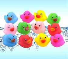 12pcs/set Mini Colorful Bathtime Rubber Infant Duck Bath Toy Color Random US