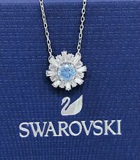 Authentic Swarovski Blue Crystal Sunshine Pendant Necklace 5536742