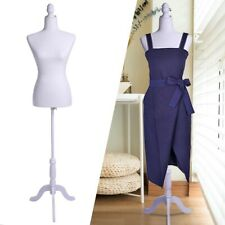 Lady Model Female Mannequin Torso Dress Clothing Form Display with Tripod Stand