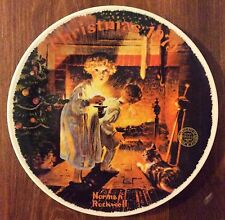 Somebody'S Up There Norman Rockwell Bradford Exchange Knowles Plate 1979 in Box