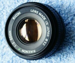 scarce Ricoh Rikenon P 50mm f2 prime lens bokeh pentax PK Fit