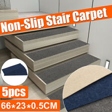5Pcs Anti-slip Stair Pads Mat Carpet Sticky Bottom Repeatedly-use Home 66X23CM ❤