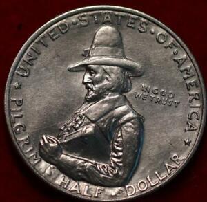 1920-D Pilgrim Tercentenary Celebration Silver Comm Half