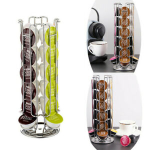 Coffee Pods Holder Coffee Capsule Storage Rack Dolce Gusto Capsule Rotating24Pod