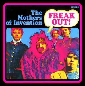 """4"""" Frank Zappa FREAK OUT! glossy vinyl sticker. New Mothers of Invention decal."""