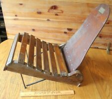 Antique Mohawk Craftsmen Handmade Folding chair ? Canoe Sleigh ? Bob Becker