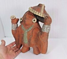 Aztec pottery Decor REDWARE Clay SCULPTURE figurine Folk Art Mexican