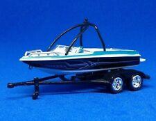 Johnny Lightning Fishing Boat / Ski / Supermax Trailer Turquoise Rare 1:64