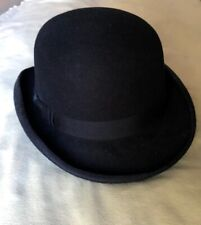 Jaxon & James - Black Wool English Bowler Hat - Halloween Hat - M Size