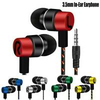 Universal Cell Phone 3.5mm Super Bass Stereo In-Ear Earbuds Earphone With Mic JT