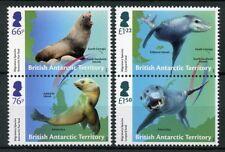 BAT Brit Antarctic Ter 2018 MNH Seals Migratory Species 4v Set Animals Stamps
