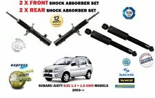 FOR SUBARU JUSTY 1.3 1.5 AWD 2003-> 2 X FRONT + 2X REAR SHOCK ABSORBER SET (4)