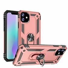 For iPhone 11 Pro Max Case Shockproof Military Armor Magnetic Ring Stand Cover