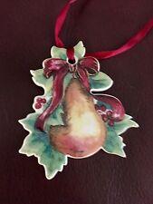 Longaberger Porcelain Christmas Pear tie-on 2000