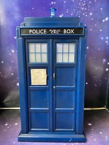 """DOCTOR WHO FIGURE THE TENTH DOCTORS 8"""" ELECTRONIC FLIGHT CONTROL TARDIS"""