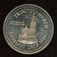 1986 Saint John, New Brunswick Trade Dollar Token Canada Coin Trinity Church