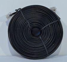 RJ14 BLACK TELEPHONE EXTENSION CORD 100FT PHONE CABLE LINE (RJ11 COMPATIBLE)