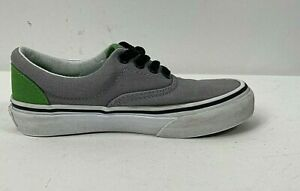 Vans Off the Wall Childrens Shoes Size 12 Gray and Green Canvas 721494