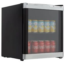 Cookology Mbc46bk Glass Door Wine Bottle & Beverage Cooler Drinks Fridge - Black