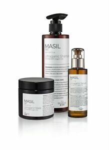 Masil Paris Shampoo Serum and Hair Mask Set With Organic Oils Medical Cosmetics