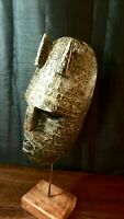 Mask African Carved Wood Tribal Wall Hand Vintage BIG!Art Wooden Face Decor 1254