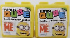 MINIONS CUBE plastic Surprise egg/ cube with toy and candy -2 PACK -