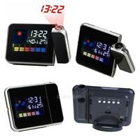 Digital Weather LCD Projector Projection Snooze Alarm Clock with LED Backlight