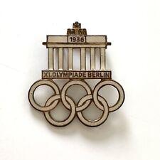 More details for vintage 1936 berlin olympics visitors enamel pin badge ges. gesch
