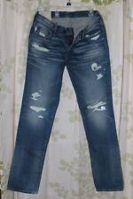 Abercrombie&Fitch Vintage Stock Men's Destroyed Wash Skinny Jeans RARE NEW 32x32