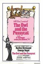 OWL AND THE PUSSYCAT Movie POSTER 27x40 Barbra Streisand George Segal Robert