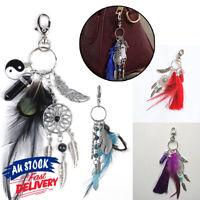 Bohemian Dream Catcher Keychain Keyring Keyholder Feather Gypsy Gift For Women