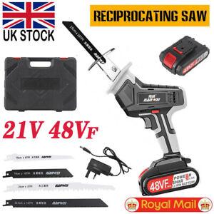 Cordless Electric Reciprocating Saw Wood Metal Cutting Recip Handheld w/ Battery