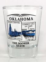 OKLAHOMA STATE SCENERY BLUE NEW SHOT GLASS SHOTGLASS