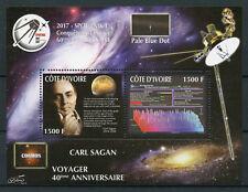 Côte d'Ivoire 2017 neuf sans charnière Carl Sagan Cosmos Spoutnik Voyager Seti 2 V M/S Espace timbres