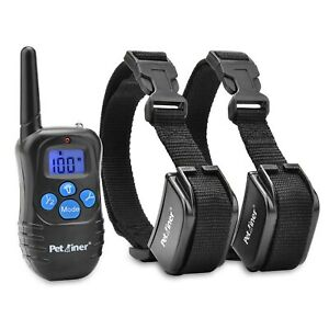Petrainer PET998DRB2 Dog Training Collar with Remote for 2 Dogs, Recharge... New