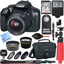 Canon T6 EOS Rebel DSLR Camera Wifi NFC + 18-55mm IS STM Lens 13 PCs Kit/Bundle