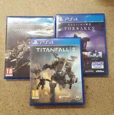3 PS4 Games - Shadow of War, Titanfall 2 and Destiny 2 Forsaken Legendary