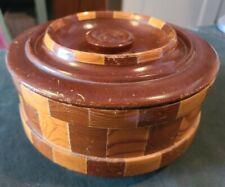 "Vintage California Redwood BowlStandard Specialty Co San Francisco 8"" Round"