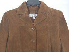 WILSONS LEATHER MAXIMA Womens Brown Suede Leather Hippy Jacket Size Large