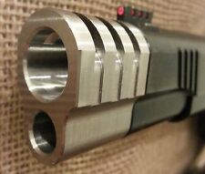1911 Punisher Compensator Brake w/side slots .45acp SS Machine Finish