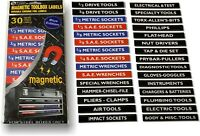 "Magnetic Toolbox Labels ""Economy Set"" (Metric Blue)  Bigger - Better - Stronger"