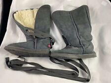 Women's Ukala by Emu Australia Boots Grey Suede Merino Lined Size W6