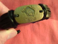 Moroccan Arabic Berber Jewelry: Real Leather Bracelet Astrogical Taurus Bull