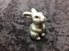 Enameled Bunny Rabbit Pewter DECORATED W/ SWAROVSKI CRYSTAL ELEMENTS