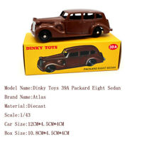 DEAGOSTINI Atlas Dinky Toys 39A Packard Eight Sedan Diecast 1:43 Car Brown