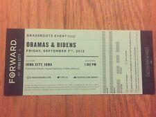 2012 Obamas & Bidens Grassroots Event Ticket President Barack Obama & Joe Biden